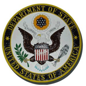 Department of State Plaque