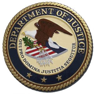 Department of Justice Plaque