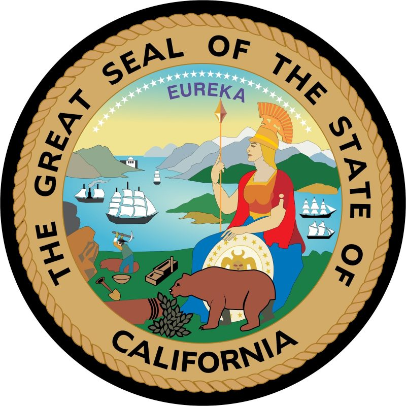 Great Seal of State of California Mouse Pad