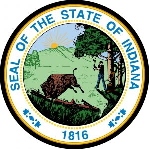 Great Seal of State of Indiana Mouse Pad