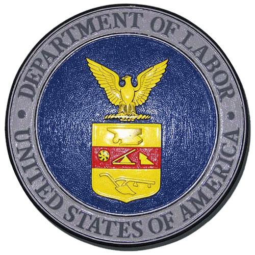 Department of Labor Plaque