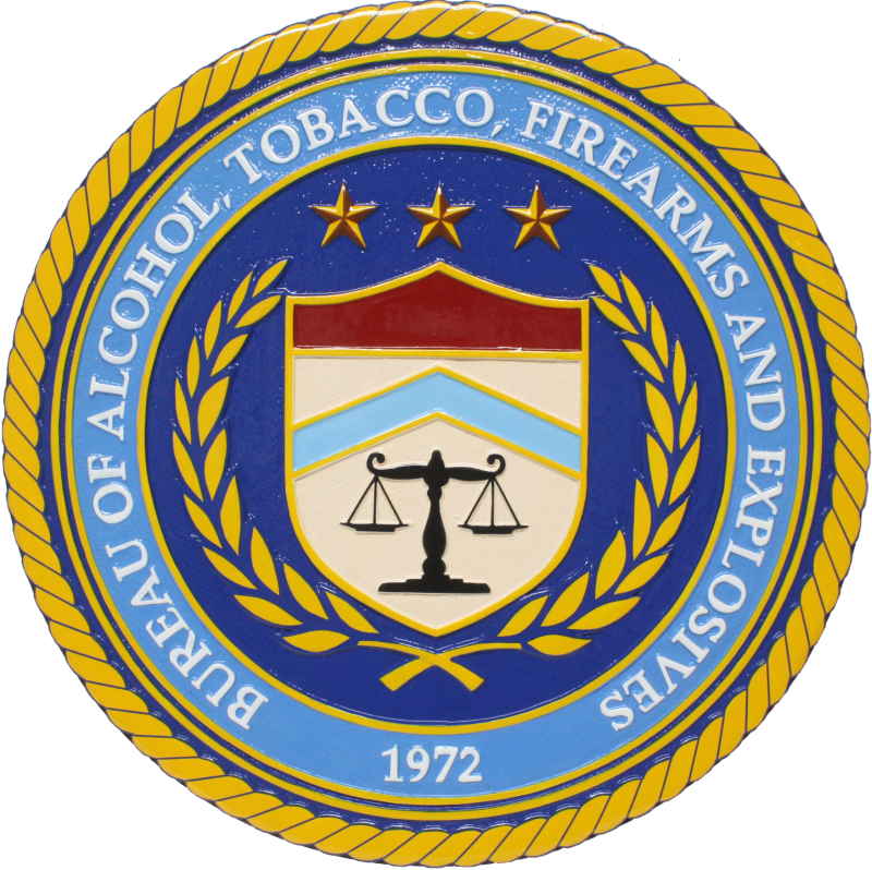 Bureau of Alcohol, Tobacco, Firearms and Explosives Plaque