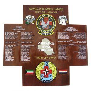 Naval Air Ambulance Deployment Plaque