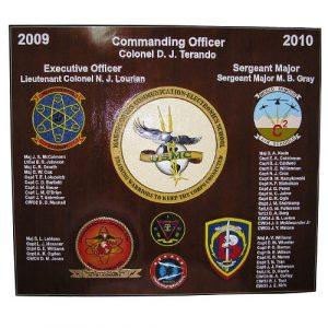 USMC Electronic School Deployment Plaque