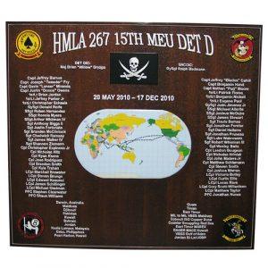 HMLA 267 Deployment Plaque