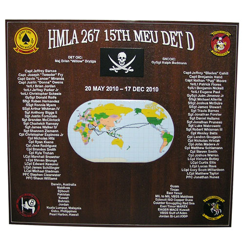 HMLA 267 Deployment Plaque