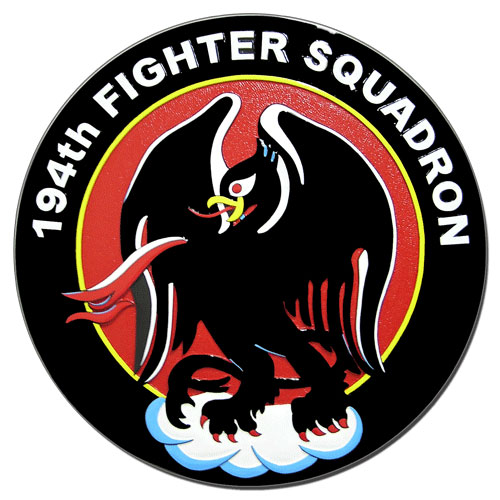 194th Fighter Squadron Seal Plaque