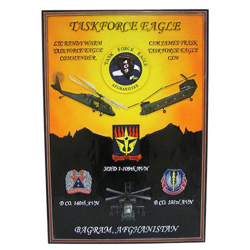 Task Force Eagle Deployment Plaque
