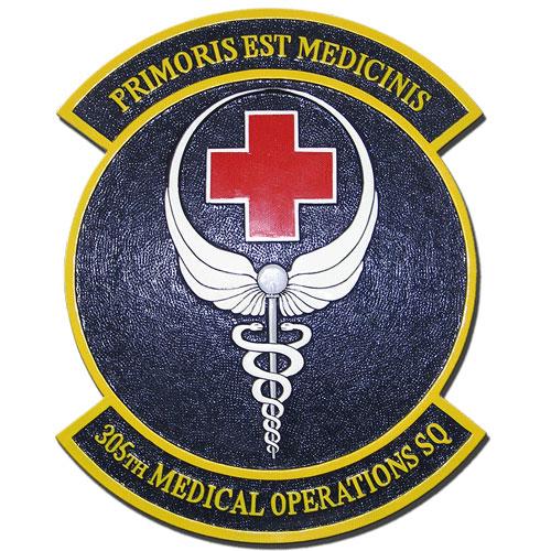 305th Medical Operations Squadron Emblem