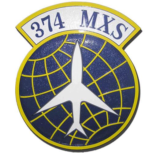 USAF 374th MXS Emblem Plaque