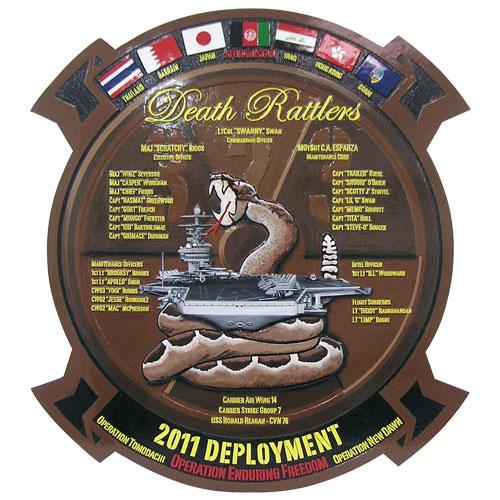 Death Rattlers Deployment Plaque