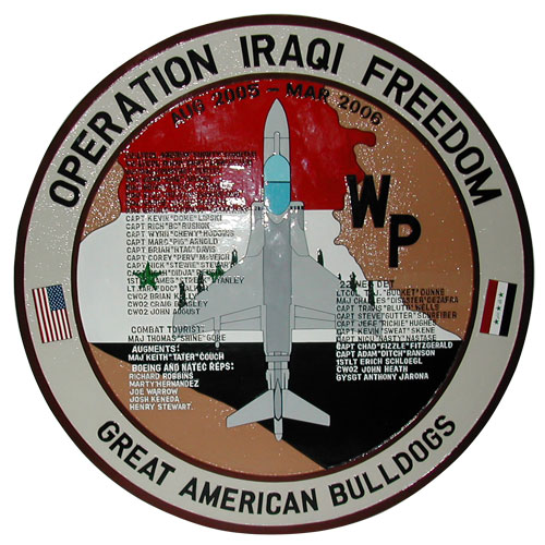 Operation Iraqi Freedom Deployment Plaque