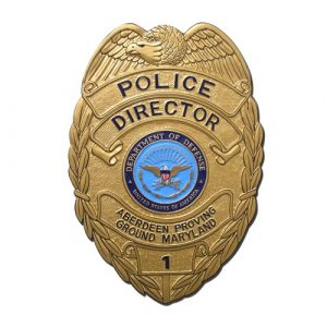 APG MD Police Dir Badge Plaque