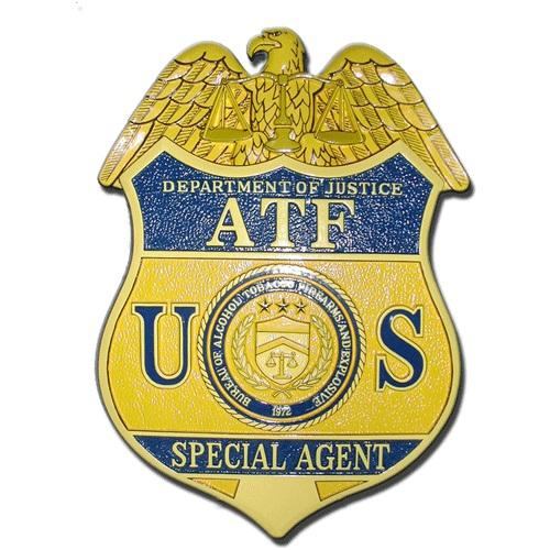ATF Badge Plaque