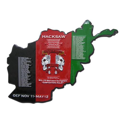 Afghan Shape Hacksaw Deployment Plaque