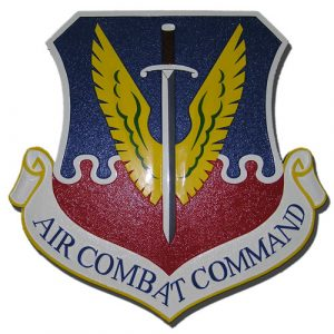 USAF Air Combat Command Emblem Plaque