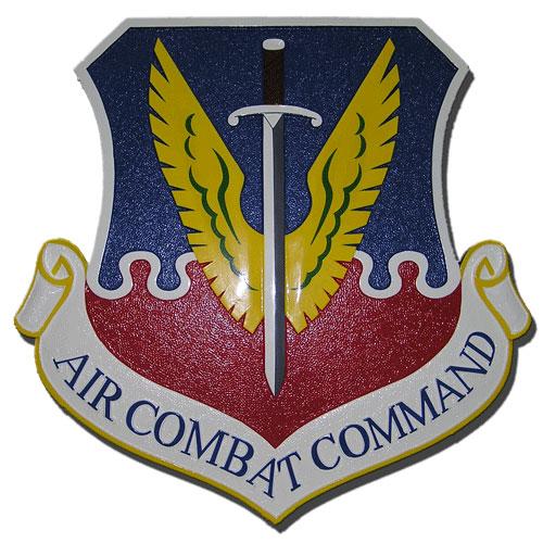 USAF Air Combat Command Emblem Plaque