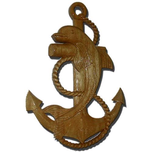 Naval Dolphin & Anchor Plaque