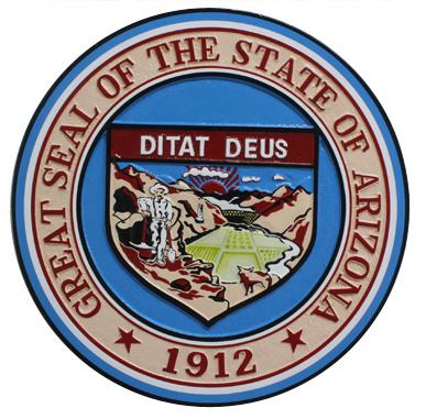 State of Arizona Seal Plaque