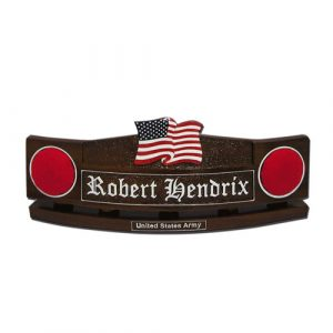 Army US Flag Desk Nameplate