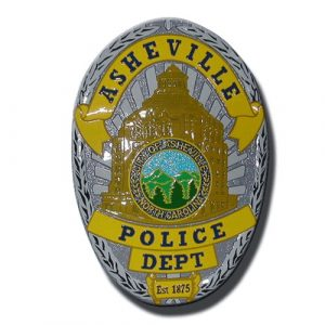 Asheville NC Police Dept Badge Plaque