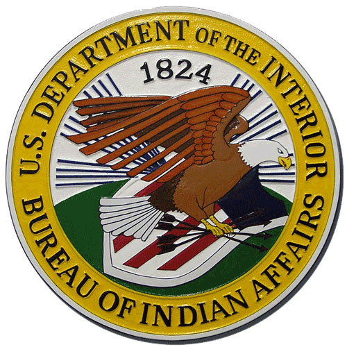 Bureau of Indian Affairs BIA Seal Plaque