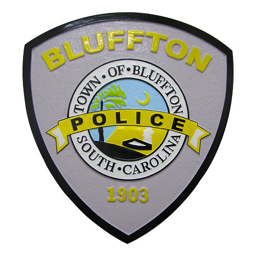 Bluffton Police Patch Plaque