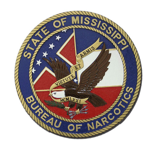Bureau of Narcotics State of MS Seal