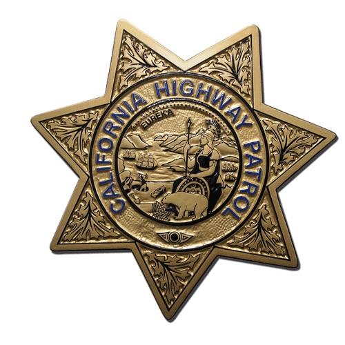 California Highway Patrol Badge Plaque