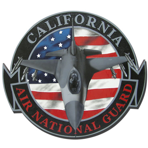 California Air National Guard Emblem Plaque