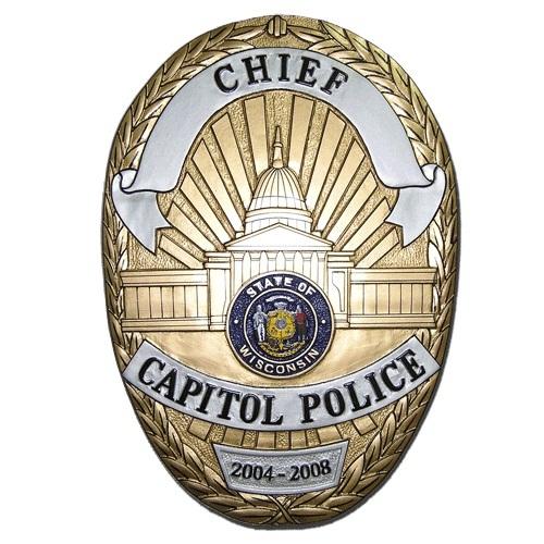 Chief Capitol Police Badge Plaque