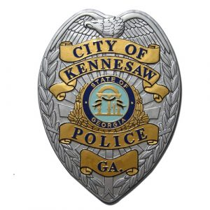 City of Kennesaw GA Police Badge Plaque