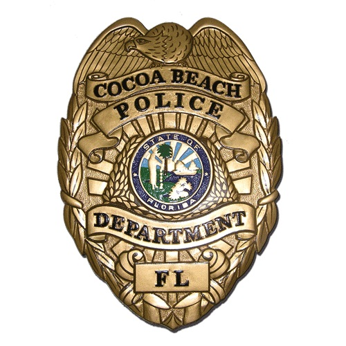 Cocoa Beach Police Department FL Badge Plaque