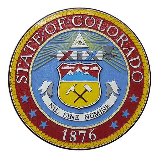 Colorado State Seal Plaque
