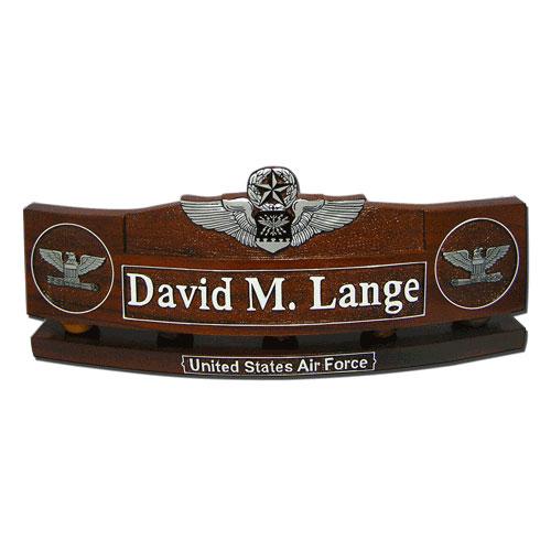Command Navigator Wings Insignia Desk Nameplate