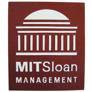 MIT Sloan Management School Plaque