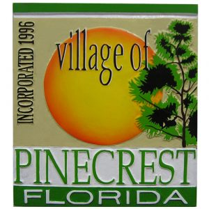 Village of Pinecrest FL Plaque