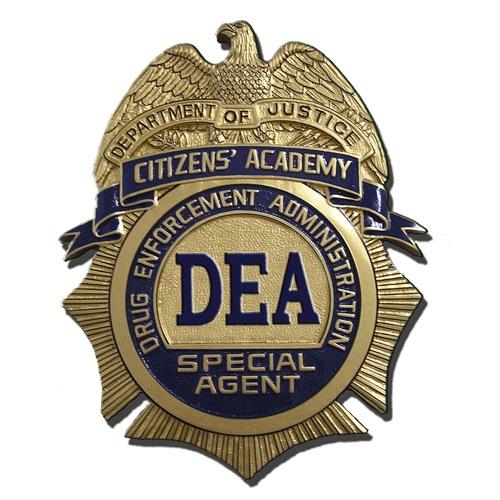 US DEA Citizens' Academy Badge Plaque