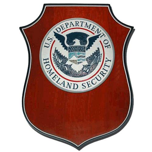 Homeland Security Plaque