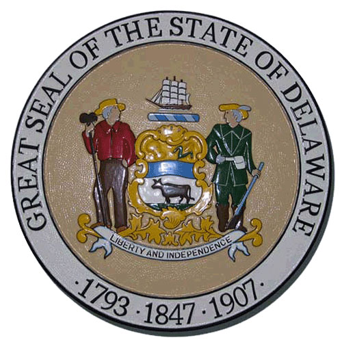Delaware State Seal Plaque