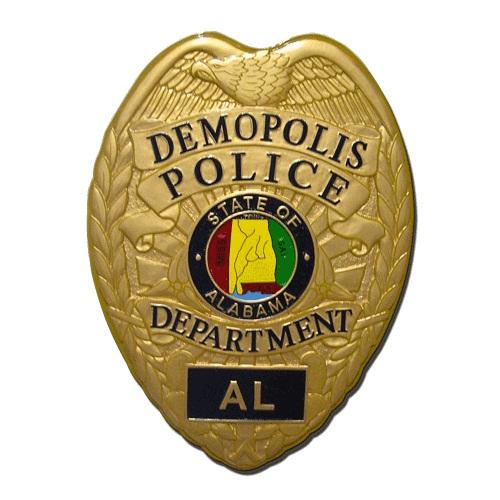 Demopolis AL Police Dept Badge Plaque