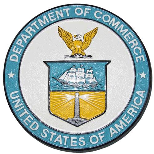 US Department of Commerce Seal / Podium Plaque