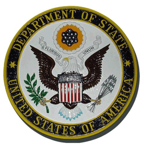 Department of State DOS Seal - Podium Plaque