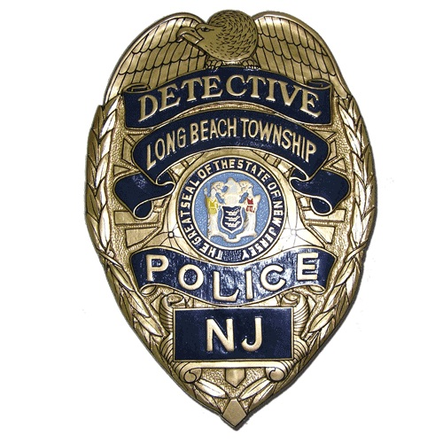 Detective NJ Police Badge Plaque