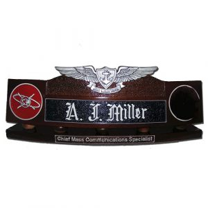 Enlisted Aviation Warfare Specialist Desk Nameplate