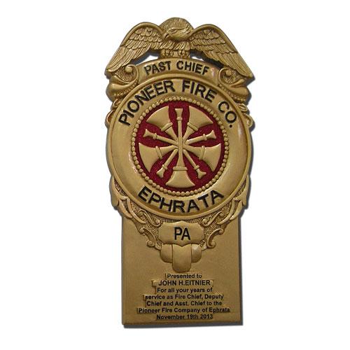Ephrata Pioneer Fire Co Badge Plaque