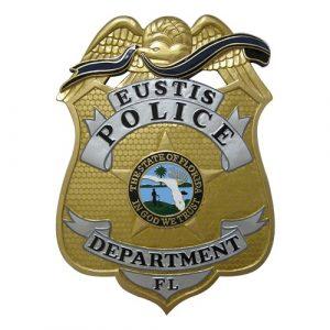 Eustis FL Police Dept Badge Plaque