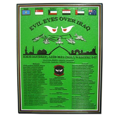 Evil Eyes Over Iraq Deployment Plaque