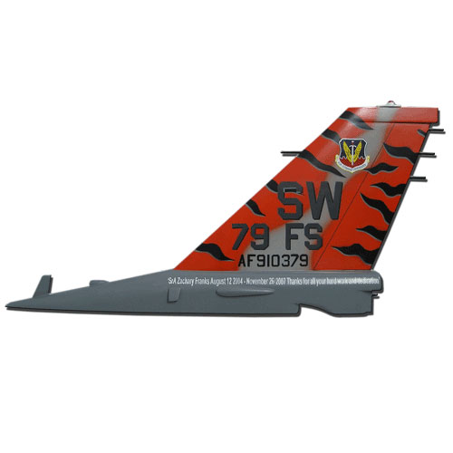 USAF F16-79th FS Tail Flash Wall Plaque