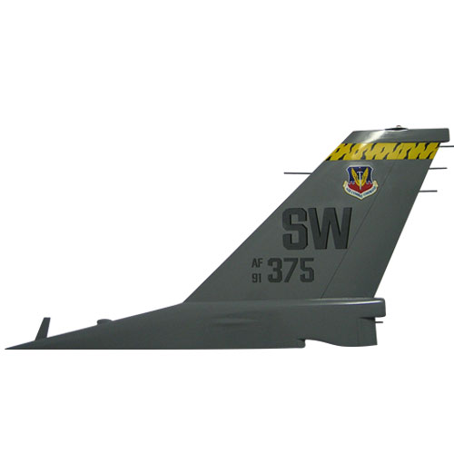 USAF F16 - AF375 SW Tail Flash Wall Plaque
